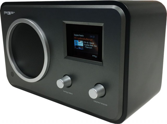 POPradio - sort, bordradio, radio med dab+, fm, bluetooth